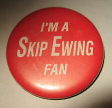 Vintage Skip Ewing Button Pin Country Music Horse and Writer Fan
