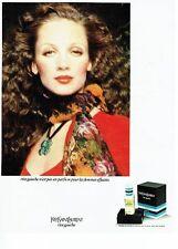 Publicité Advertising 087  1974  parfum femme Rive Gauche Yves Saint Laurent **