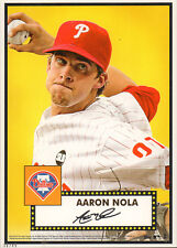 "2015 Topps Call Up Series Aaron Nola Philadelphia Phillies 5"" x 7"" #'d to 49 RC"