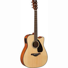 Yamaha FGX800C FGX Dreadnought Spruce Top Acoustic-Electric Guitar Natural