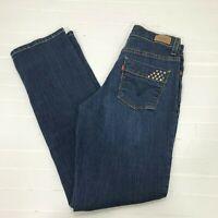 Levi's 512 Perfectly Slimming Women Straight Leg Dark Wash Stretch Jeans 4 Short