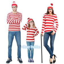 C4-3 Men's Women's Boy's Girl's Wheres Wally Family Book Week Costume Outfit