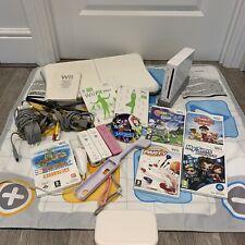⭐️BIG BUNDLE Nintendo Wii Console Wii Fit Board & Games, 3 Remotes & Dance Mat