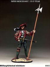 Swiss mercenary, Tin toy soldier 54 mm, figurine, metal sculpture HAND PAINTED