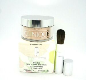 Clinique Blended Face Powder and Brush ~ 02 Transparency 2(VF) ~ 1.2 oz / BNIB