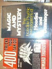 400 Tricks You Can Do Thurston & Magic Mystery Books Houdini Dunninger