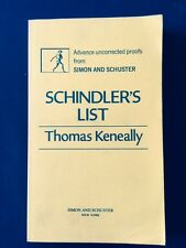 SCHINDLER'S LIST - UNCORRECTED PROOF BY THOMAS KENEALLY