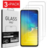 For Samsung Galaxy S10e Premium Real Tempered Glass Screen Protector (3 Pack)