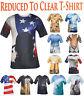 Mens Printed T-Shirt US Flag Wolf Hawaiian Surfing Bike Beer Round Neck Tee Fast