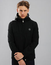 Pretty Green Beckford Jacket in Black Hooded Coat Paisley Lightweight L