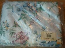 Linens Botanical Garden Curtain Wh Flower Tie Back window 84 inch Rod Pocket NEW