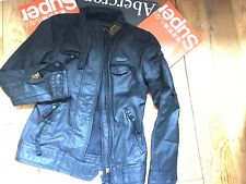 MENS SUPERDRY JACKET COAT SIZE SMALL BLACK