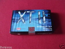 ►K7 AUDIO CASSETTE VIERGE XT II CHROME 60 / Vintage SEALED Blank Audio Cassette