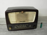 tsf valve art deco radio philips bf 356 a vintage old tube lamp antique bakelite