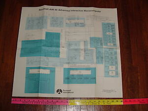 Rockwell AIM-65 NOS New Old Stock Poster Schematic