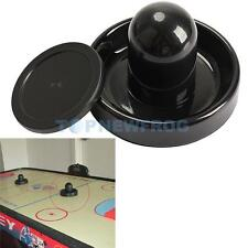 96mm Air Hockey Table Felt Pusher Mallet Goalies with 1pc 63mm Puck Black