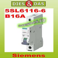 Siemens Sicherungsautomat B 16 A  5SL6116-6 Leitungsschutzschalter Sicherung