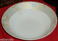 "Bella Lux ""Grace"" Pattern  ~ Large Serving Bowl- Silver & Gold colors, New"