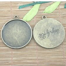 2pc antiqued bronze round shaped cabochon settings DIY pendant  EF1244