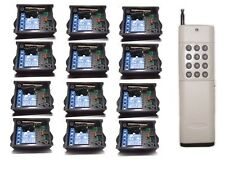 RF Radio 12CH Remote Control Switch Relay on/off Wireless Light led DC12V 1000M