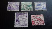 Briefmarke, Chile, 1953, Correo Aereo Chile, Antarktica Chilena, 5x gestempelt