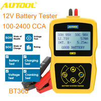 BT360 12V Car Battery Tester Cranking Charging Tester Quick Analyzer 100-2400CCA