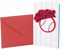 Hallmark Birthday Card by Signature ~ 3D Felt Baseball All Star Mens w/ Buttons