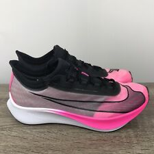 Nike Zoom Fly 3 Pink Blast Sz 9 Running Black AT8240-300 100% Authentic Hot RARE