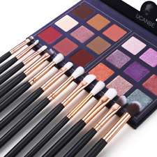 Pro 18 Colors Eyeshadow Palette With 12pcs Makeup Brushes Set Matte Shimmer Eye