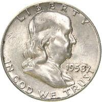 1958 Franklin Half Dollar 90% Silver About Uncirculated AU