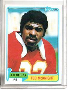 1981 TOPPS TED McKNIGHT (NM) <<