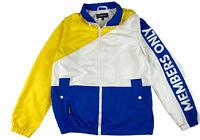 MEMBERS ONLY Mens Yellow / Blue Windbreaker Jacket Size M Medium