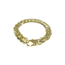 9ct Gold Gents Heavy Curb Bracelet 9""
