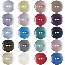 Round Fish Eye Buttons - 4 Sizes 20+ Colours - Fast Dispatch & Free Postage