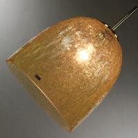 VTG Doria Pendel Leuchte Hollywood Regency Style Amber Glas 60er 70er Jahre