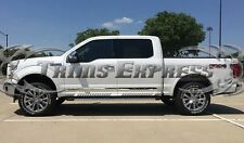 15-2017 Ford F-150 Crew Cab 4Pc Body Side Molding Trim Stainless Steel 1.5""