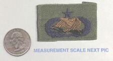 US Army Senior Logistics Qualification Badge Patch Green  Uniform removed
