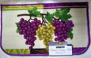 """Grapes Theme Printed Kitchen Mat Rug 18""""x30"""" Non Skid Kitchen Home Decor"""