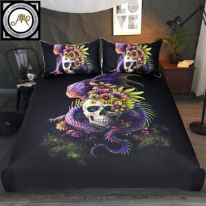 Dragon Skull Single/Double/Queen/King Size Bed Quilt/Doona/Duvet Cover Set