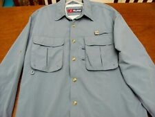 Reel Legends Vented Blue Long Sleeve Fishing Shirt Size Medium M Nylon
