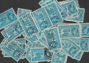 Postage Stamps For Crafting: 1950 3c Indiana Territory; Blue; 50 Copies