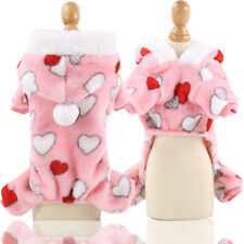 Flannel dog cat clothes pet clothes warm small love pink small medium sized dogs