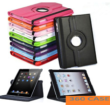 """Leather 360 Rotating Smart Case Cover Apple iPad 8th 7th Generation 10.2"""" 2020"""