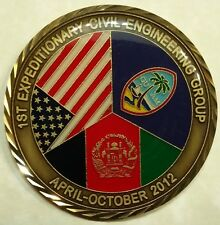 557th Exp Red Horse Sq Afghanistan RHS 2012 Air Force Challenge Coin