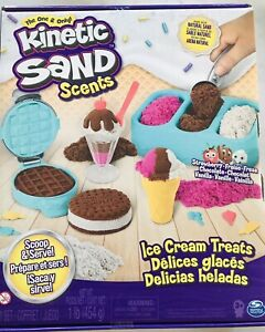 Kinetic Sand Scents Ice Cream Treats Playset 3 Colors 6 Serving Tools