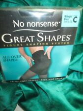 Vintage No Nonsense Great Shapes Midnight Black Pantyhose Nylons C