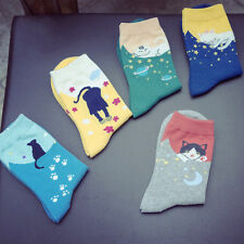 1 Pairs Printed Cat Womens Socks Lot Crew Ankle Low Cut Casual Dress Socks New