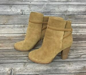 Joie Rigby Suede Crisscross Ankle Bootie (Size: 8) EUR 38