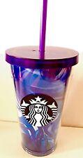 Starbucks Blue Wave Cold Cup Tumbler/Purple Wave/16oz