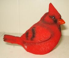 Vintage 1980'S Usa Cardinal Bird Figurine Beautiful Design Resin Nr